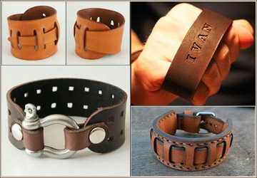 Bracelets Leather workshop.